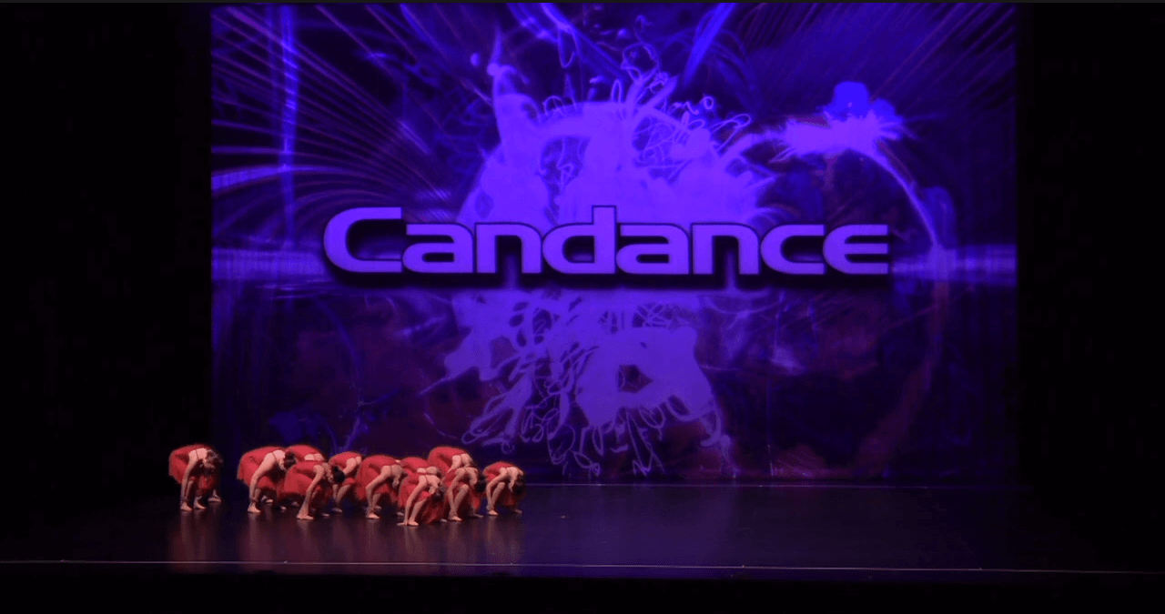 Competitive lyrical dance team on stage at dance competition in vaughan