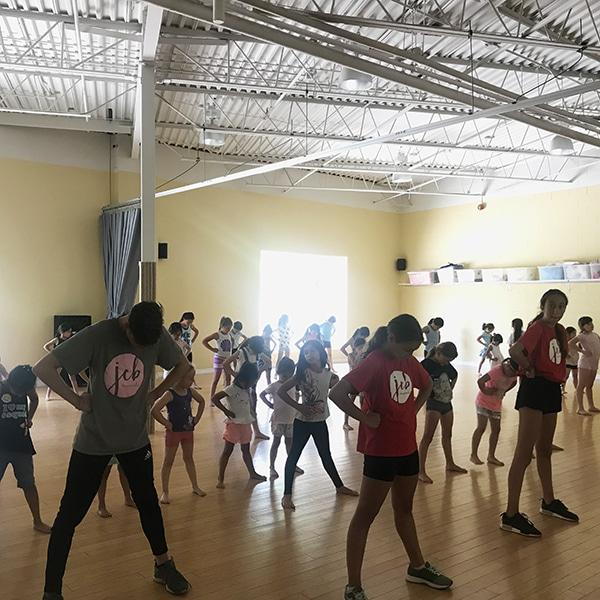 summer camp students dancing at jcb danceworks in york region