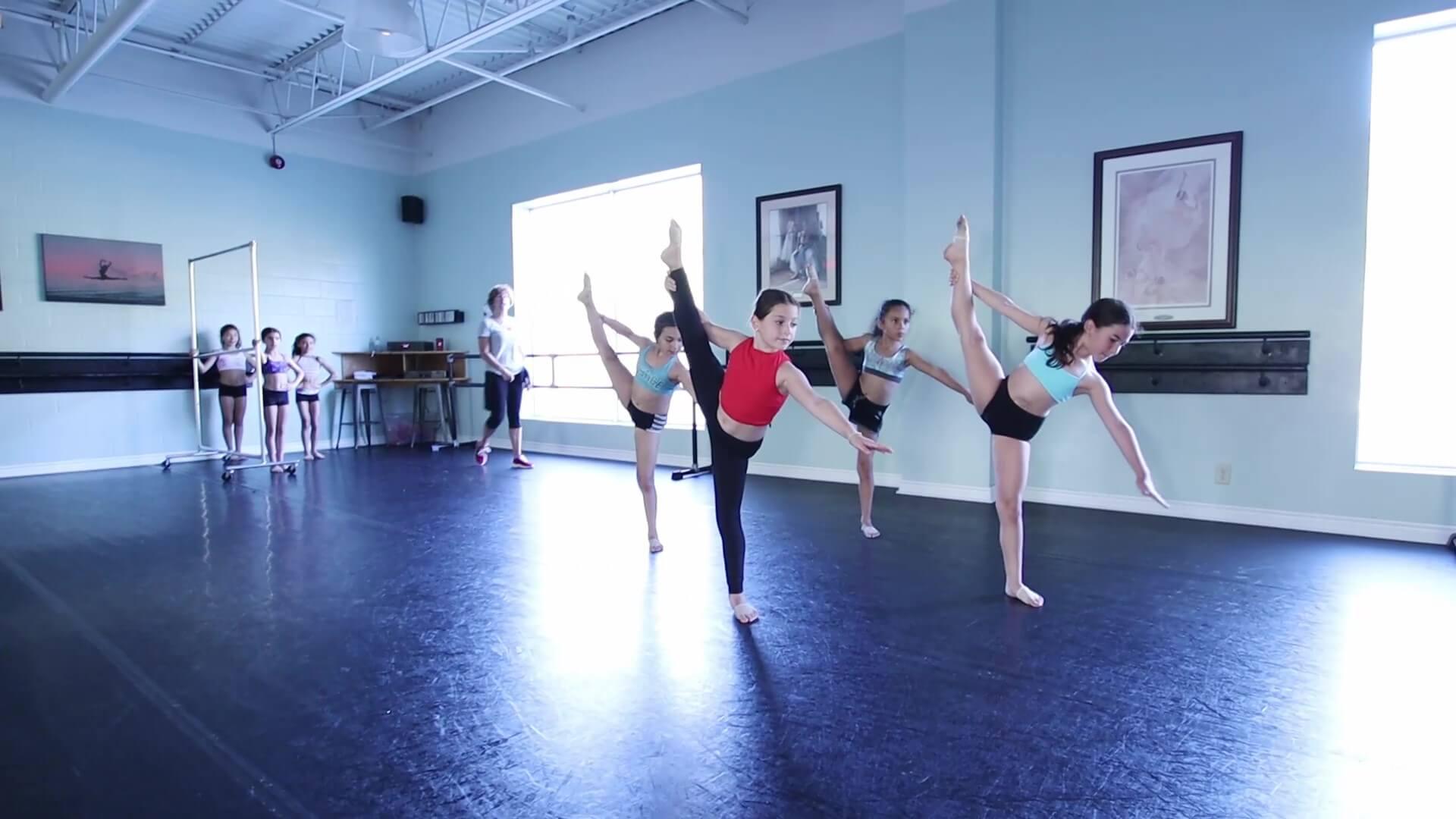 Recreational dancers from jcb danceworks dancing in studio