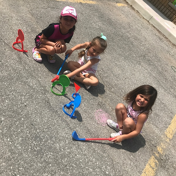 summer camp students having outdoor play at jcb danceworks in richmond hill