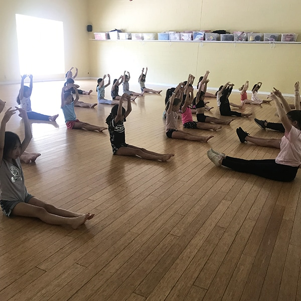 summer camp students at jcb danceworks in king city